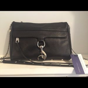 Rebecca Minkoff Large Mac Black Silver Leather Bag